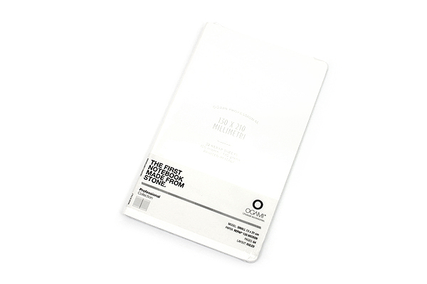 "Ogami Professional Notebook - Soft Cover - Small - 5"" x 8.25"" - Ruled - White - OGAMI OG08000052"