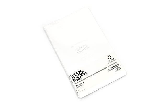 "Ogami Professional Notebook - Soft Cover - Small - 5"" x 8.25"" - Plain - White - OGAMI OG08000051"