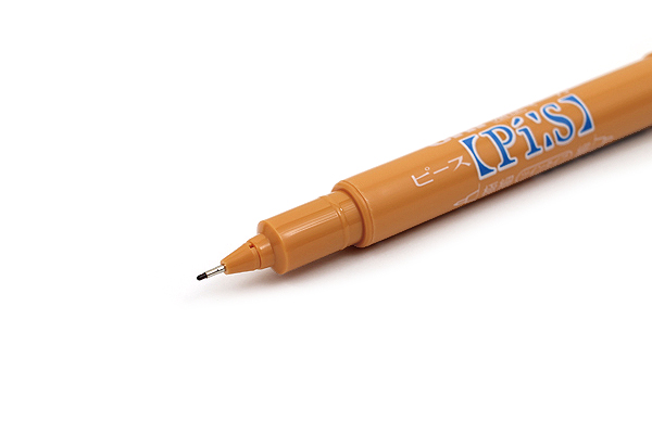 Uni Pi:s Double-Sided Marker - Extra Fine / Fine - Ocher - UNI PA121T.19