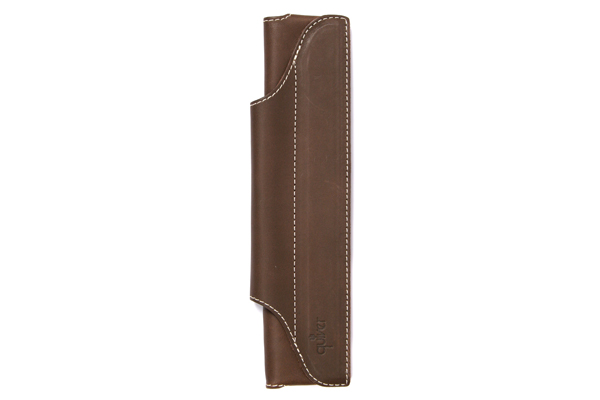 Quiver Single Pen Holder for A5 Large Notebooks - Mocha with Beige Stitching - QUIVER RLH-1-100-MOK