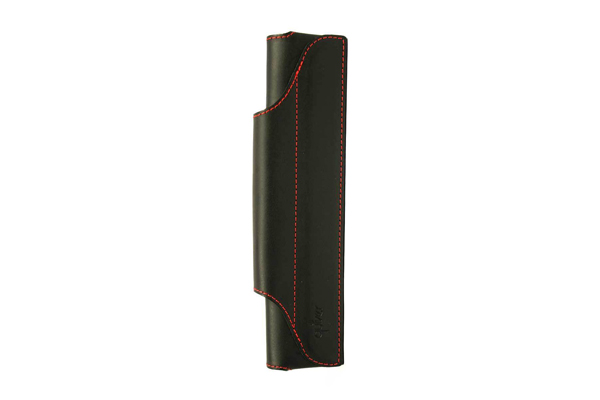 Quiver Single Pen Holder for A5 Large Notebooks - Black with Red Stitching - QUIVER RLH-1-100-BLK-RED