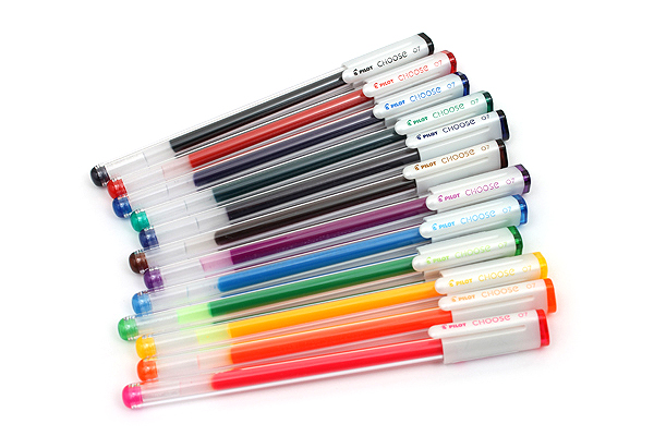 Pilot Choose Gel Ink Pen - 0.7 mm - 12 Color Set - PILOT LCH-130F-12C