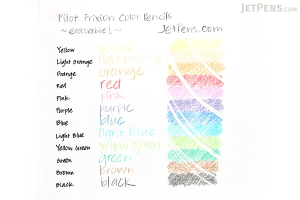Pilot FriXion Color Pencil - Light Orange - PILOT PF-10-PO