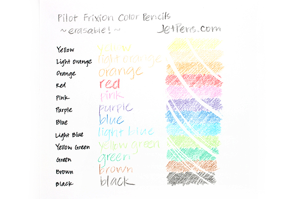 Pilot FriXion Color Pencil - Yellow - PILOT PF-10-Y