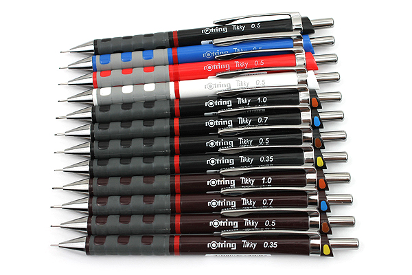 Rotring Tikky Mechanical Pencil - 0.7 mm - Burgundy with Color Coding - ROTRING 1904692