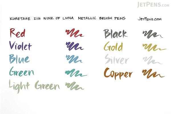 Kuretake Zig Wink of Luna Metallic Brush Pen - Copper - KURETAKE MS-60-123