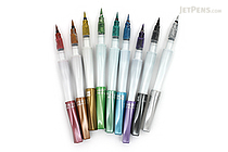Kuretake Zig Wink of Luna Metallic Brush Pen - 9 Pen Bundle - JETPENS KURETAKE MS-60 BUNDLE