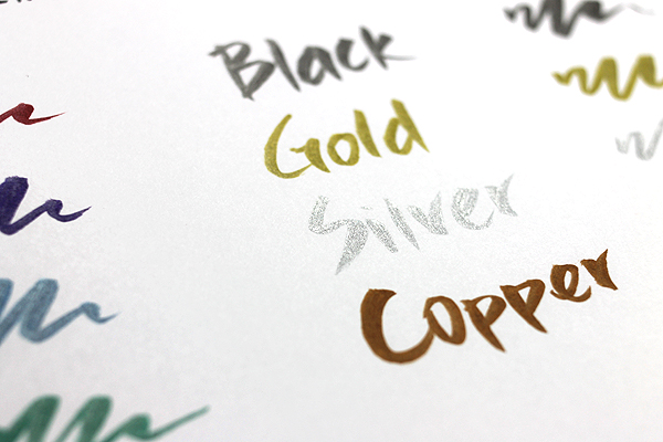 Kuretake Zig Wink of Luna Metallic Brush Pen - Copper - KURETAKE MS-60-123