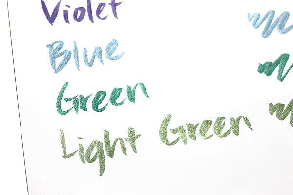 Kuretake Zig Wink of Luna Metallic Brush Pen - Green - KURETAKE MS-60-121