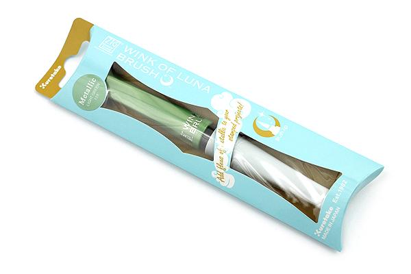 Kuretake Zig Wink of Luna Metallic Brush Pen - Light Green - KURETAKE MS-60-128