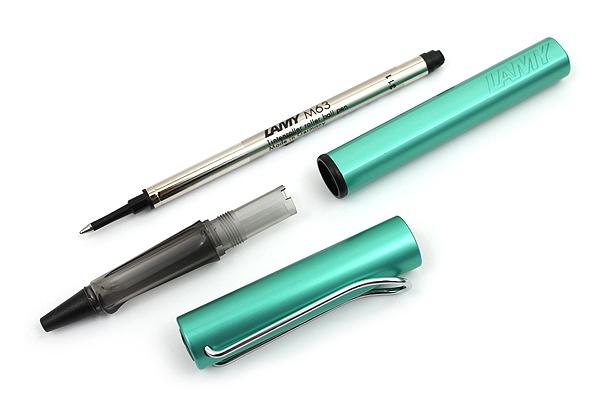 Lamy Al-Star Rollerball Pen - Medium Point - Limited Edition Blue Green Body - Black Ink - LAMY L332