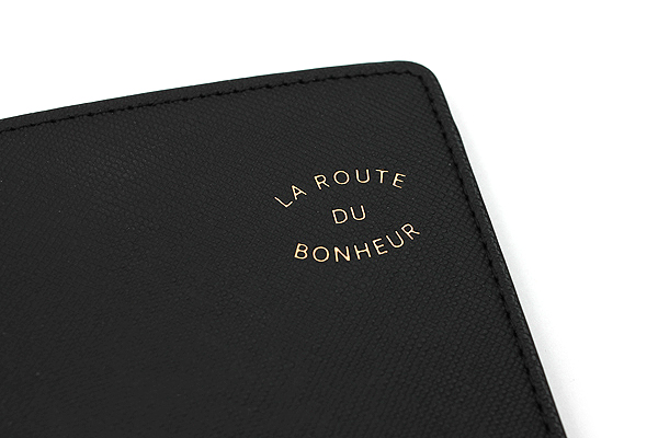 Invite.L La Route Du Bonheur Passport Cover - Black - IL PC-BLACK