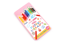 Pilot FriXion Color Pencil - 12 Color Set - Pink Case - PILOT PF-1S-12CP