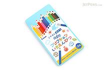 Pilot FriXion Color Pencil - 12 Color Set - Blue Case - PILOT PF-1S-12CL