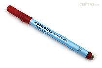 Staedtler Lumocolor Correctable Dry Erase Pen - Fine Point - Red - STAEDTLER 305 F-2