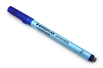 Staedtler Lumocolor Correctable Dry Erase Pen - Fine Point - Blue - STAEDTLER 305 F-3
