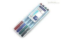 Staedtler Lumocolor Correctable Dry Erase Pen - Fine Point - 4 Color Set - STAEDTLER 305F WP4