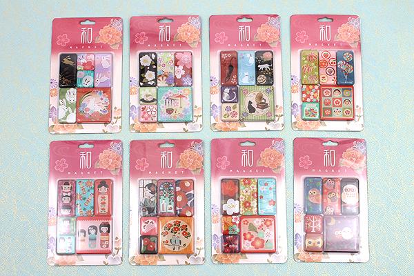 Kurochiku Japanese Pattern Magnet - Sakura (Cherry Blossom) - Set of 6 - KUROCHIKU 71204843