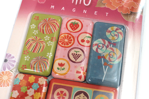 Kurochiku Japanese Pattern Magnet - Ame (Candy) - Set of 6 - KUROCHIKU 71304802