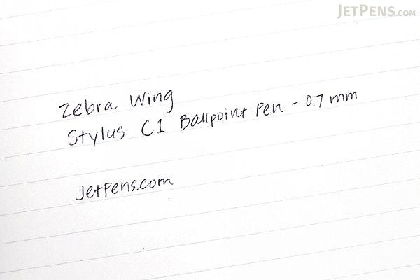 Zebra Wing Stylus C1 Ballpoint Pen - 0.7 mm - Black Body - ZEBRA P-ATC1-BK