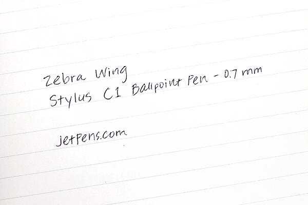 Zebra Wing Stylus C1 Ballpoint Pen - 0.7 mm - Blue Body - ZEBRA P-ATC1-BL