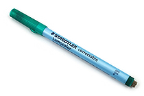 Staedtler Lumocolor Correctable Dry Erase Pen - Fine Point - Green - STAEDTLER 305 F-5