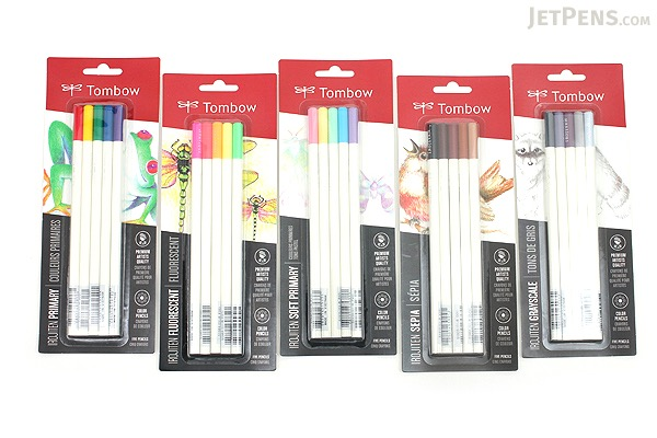 Tombow Irojiten Color Pencil - 5 Color Set - Soft Primary - TOMBOW 61531