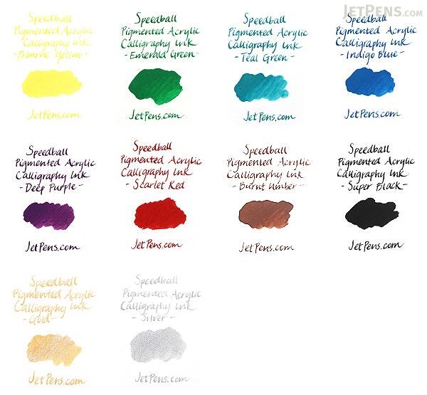 Speedball Deep Purple Calligraphy Ink - Pigmented Acrylic - 0.4 oz Bottle - SPEEDBALL 3108