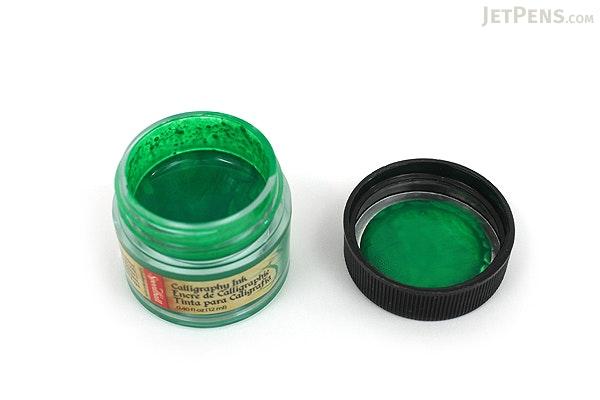 Speedball Emerald Green Calligraphy Ink - Pigmented Acrylic - 0.4 oz Bottle - SPEEDBALL 3103