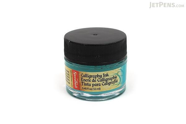 Speedball Teal Green Calligraphy Ink - Pigmented Acrylic - 0.4 oz Bottle - SPEEDBALL 3106