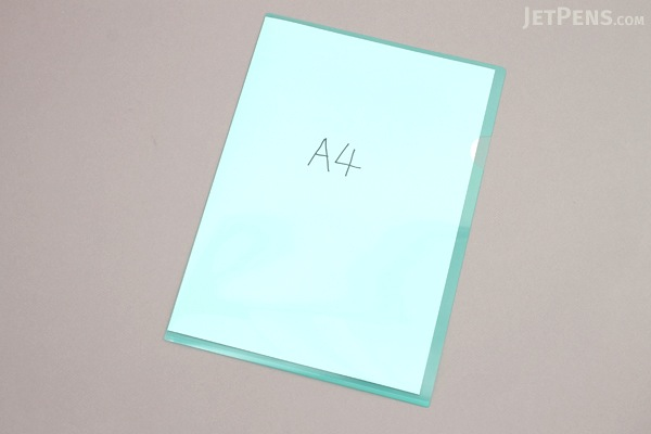 Kokuyo Clear Folder - Super Clear 10 - A4 - Emerald Green - KOKUYO FU-TC750N-3