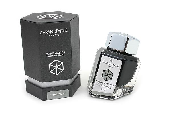 Caran d'Ache Chromatics INKredible Colors Ink - 50 ml - Infinite Grey - CARAN D'ACHE 8011.005