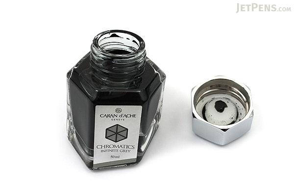 Caran d'Ache Infinite Grey Ink - Chromatics - 50 ml Bottle - CARAN D'ACHE 8011.005
