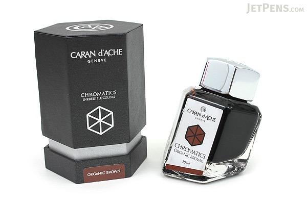 Caran d'Ache Organic Brown Ink - Chromatics - 50 ml Bottle - CARAN D'ACHE 8011.049