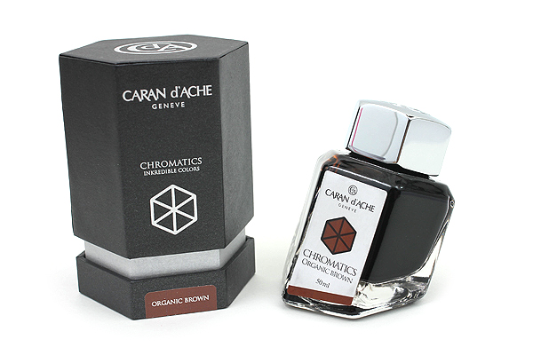Caran d'Ache Chromatics INKredible Colors Ink - 50 ml - Organic Brown - CARAN D'ACHE 8011.049