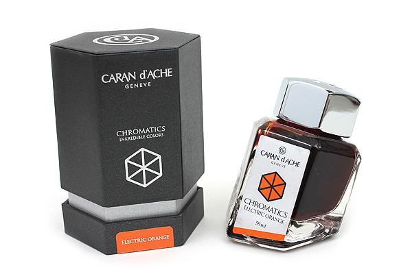 Caran d'Ache Chromatics INKredible Colors Ink - 50 ml - Electric Orange - CARAN D'ACHE 8011.052