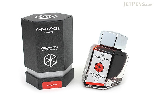Caran d'Ache Infra Red Ink - Chromatics - 50 ml Bottle - CARAN D'ACHE 8011.070