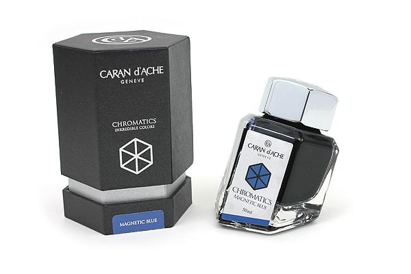 Caran d'Ache Chromatics INKredible Colors Ink - 50 ml - Magnetic Blue - CARAN D'ACHE 8011.149