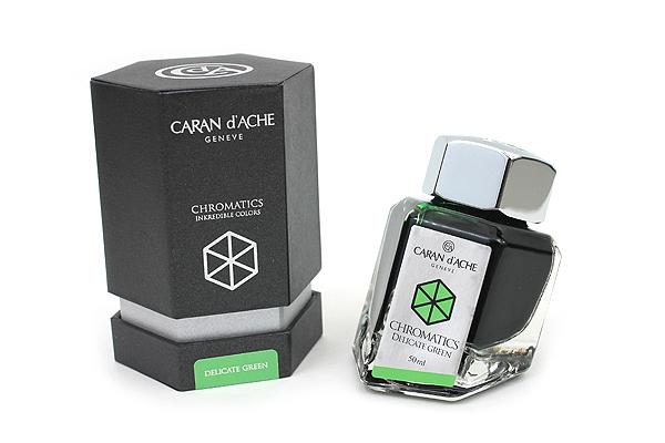 Caran d'Ache Chromatics INKredible Colors Ink - 50 ml - Delicate Green - CARAN D'ACHE 8011.221