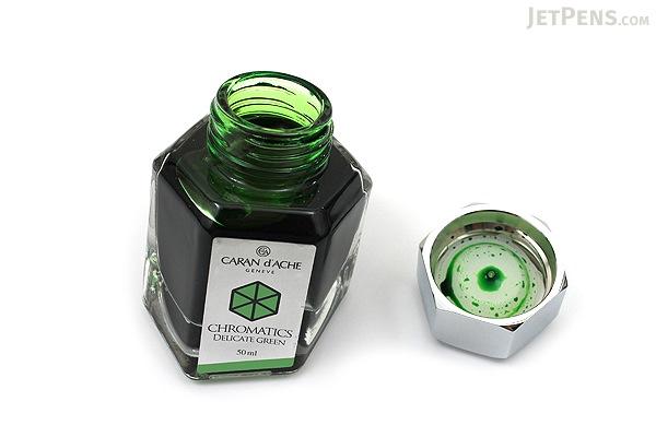 Caran d'Ache Delicate Green Ink - Chromatics - 50 ml Bottle - CARAN D'ACHE 8011.221