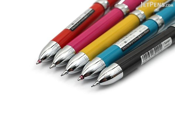 Zebra Surari Sharbo 1000 2 Color 0.7 mm Ballpoint Multi Pen + 0.5 mm Pencil - Red Body - ZEBRA SB26-R