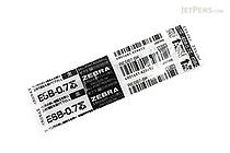 Zebra ESB-0.7 Emulsion Ink Ballpoint Pen Refill - D1 - 0.7 mm - Black - ZEBRA RESB7-BK
