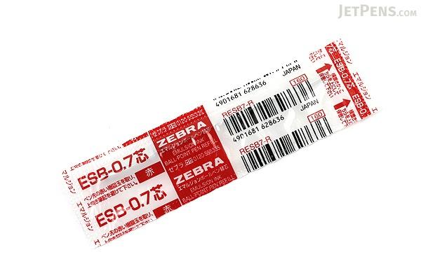 Zebra ESB-0.7 Emulsion Ink Ballpoint Pen Refill - D1 - 0.7 mm - Red - ZEBRA RESB7-R