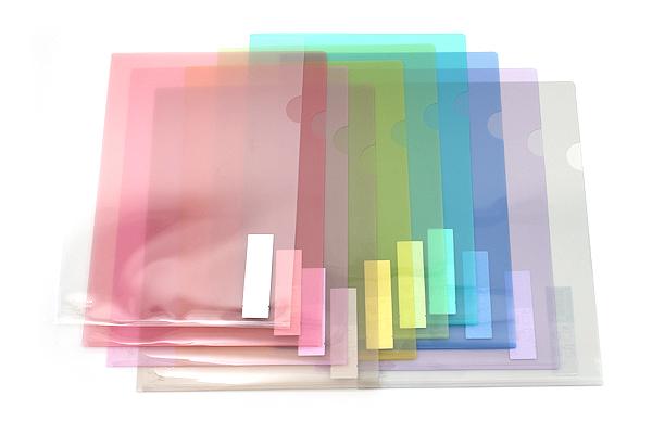 Kokuyo Clear Folder - Super Clear 10 - A4 - Light Pink - KOKUYO FU-TC750N-6