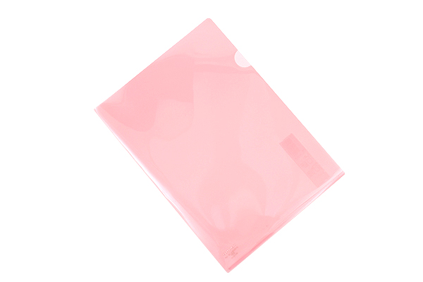 Kokuyo Clear Folder - Super Clear 10 - A4 - Light Pink - KOKUYO FU-TC750N-6