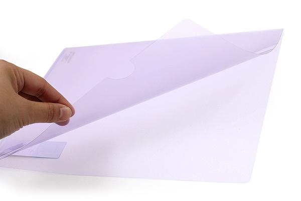 Kokuyo Clear Folder - Super Clear 10 - A4 - Light Violet - KOKUYO FU-TC750N-4