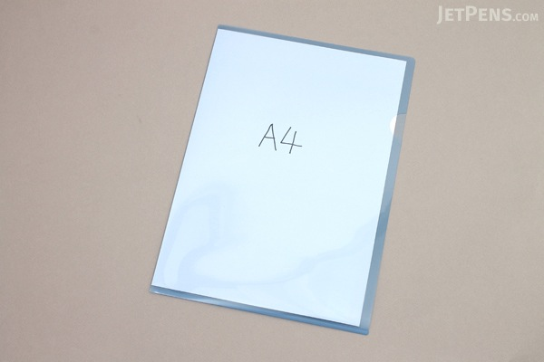 Kokuyo Clear Folder - Super Clear 10 - A4 - Sky Blue - KOKUYO FU-TC750N-2