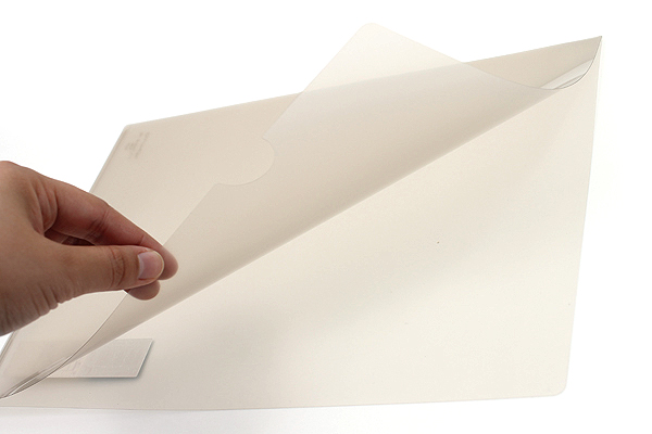 Kokuyo Clear Folder - Super Clear 10 - A4 - Sepia - KOKUYO FU-TC750N-9