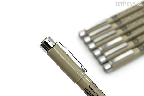 Sakura Pigma Micron Marker Pen - Black - 7 Pen Bundle - JETPENS SAKURA XSDK-49 BUNDLE