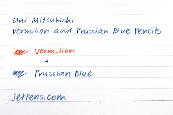 Uni Mitsubishi Vermilion and Prussian Blue Pencil - 5:5 - Hexagonal Body - Pack of 12 - UNI K772 BUNDLE